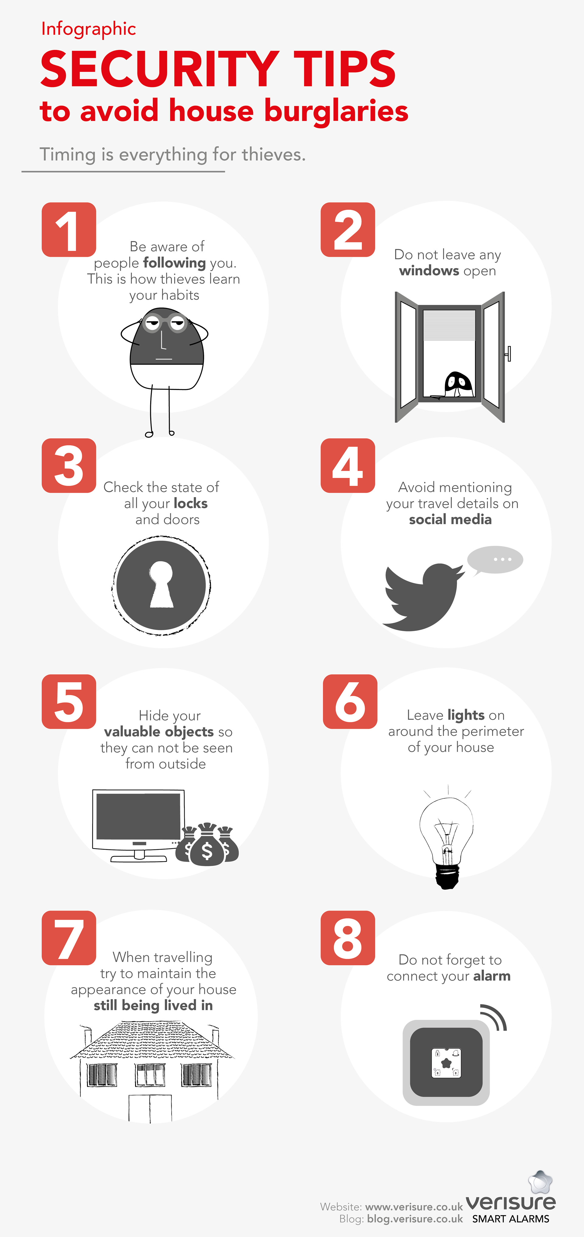 infographic Security tips to avoid burglary - Verisure Smart Alarms