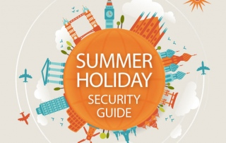 holiday home burglary prevention guide as infographic