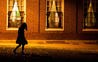 Girl walking home alone