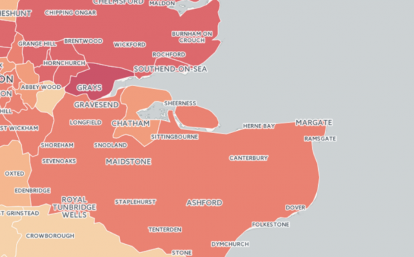 burglary map of England & Wales