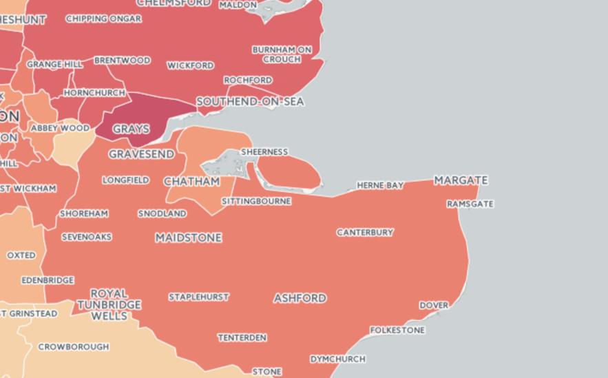 burglary map of England & Wales