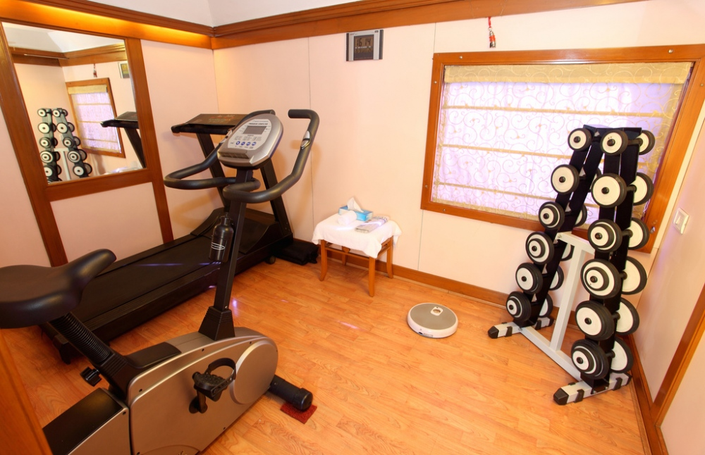 fitness man cave